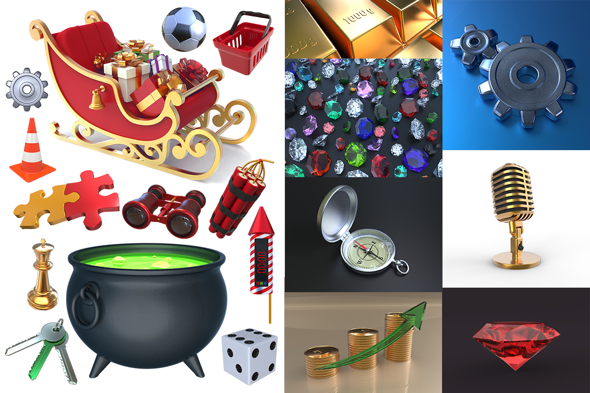 Cartoon Characters & Items Bundle example image 17