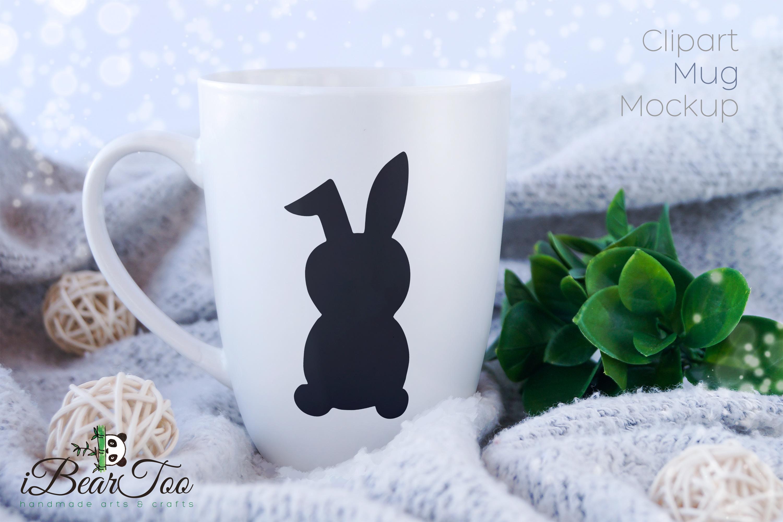 Rabbit SVG Black Clipart Bunny Drawing Vector Cut Files example image 5