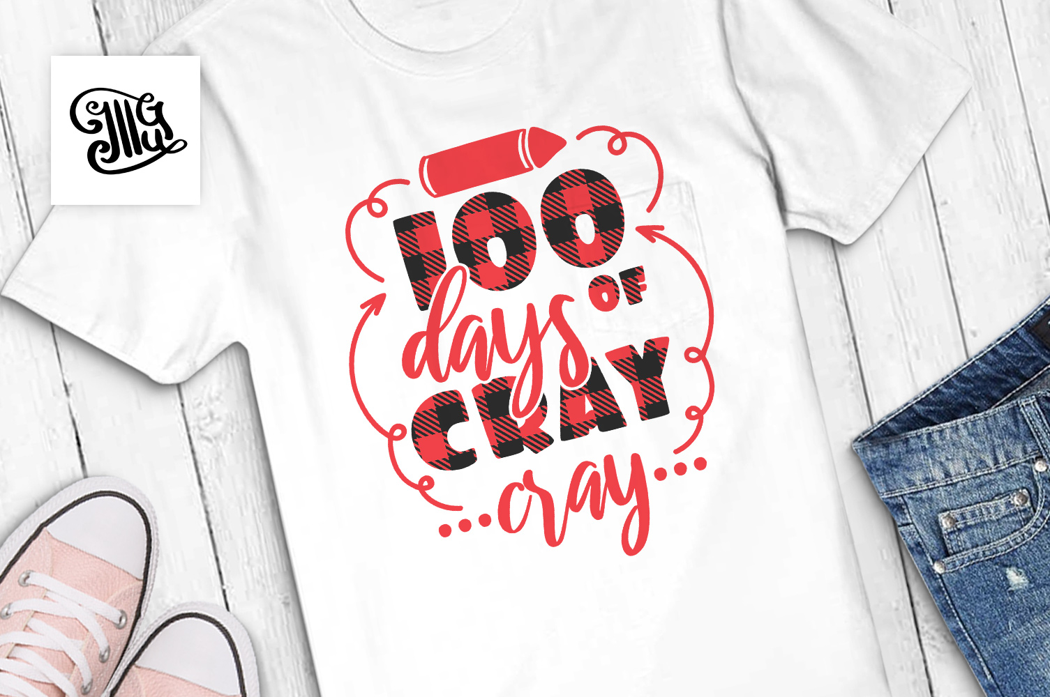 100 Days of school svg example image 1