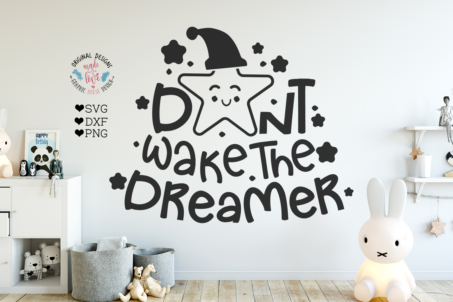 Nursery SVG - Don't Wake the Dreamer Cut File example image 1