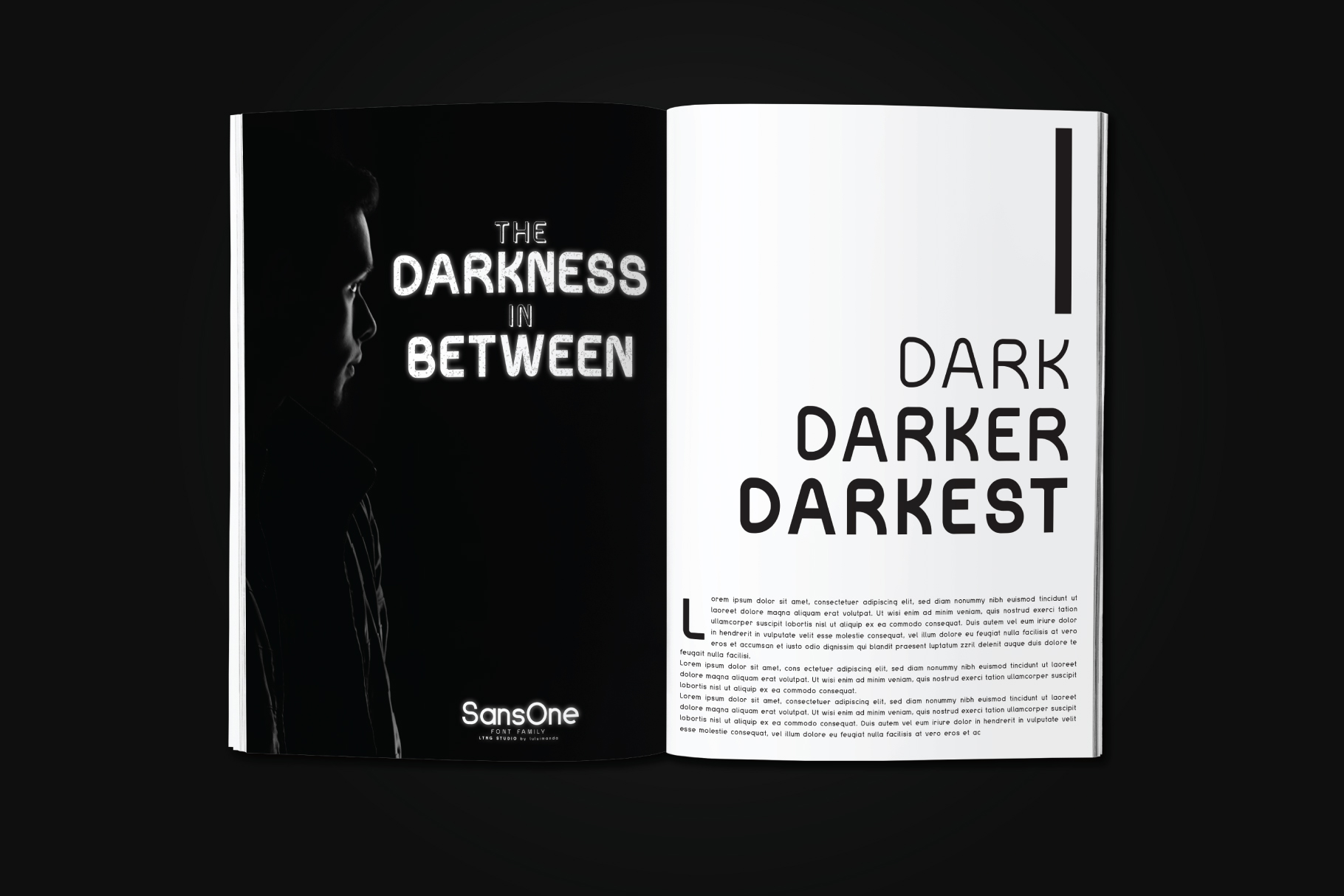 Sans One Font family example image 3
