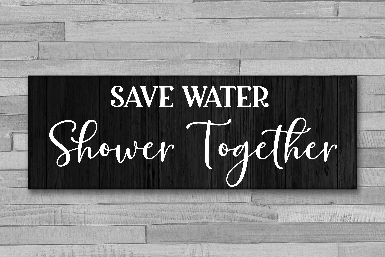 Bathroom Sign Bundle - 6 Bathroom SVG Designs example image 4