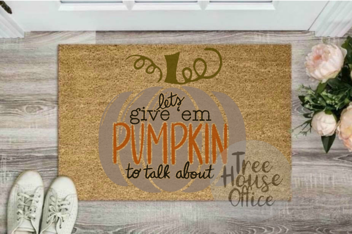 Let's Give 'Em Pumpkin To Talk About Funny Fall SVG PNG JPEG example image 3