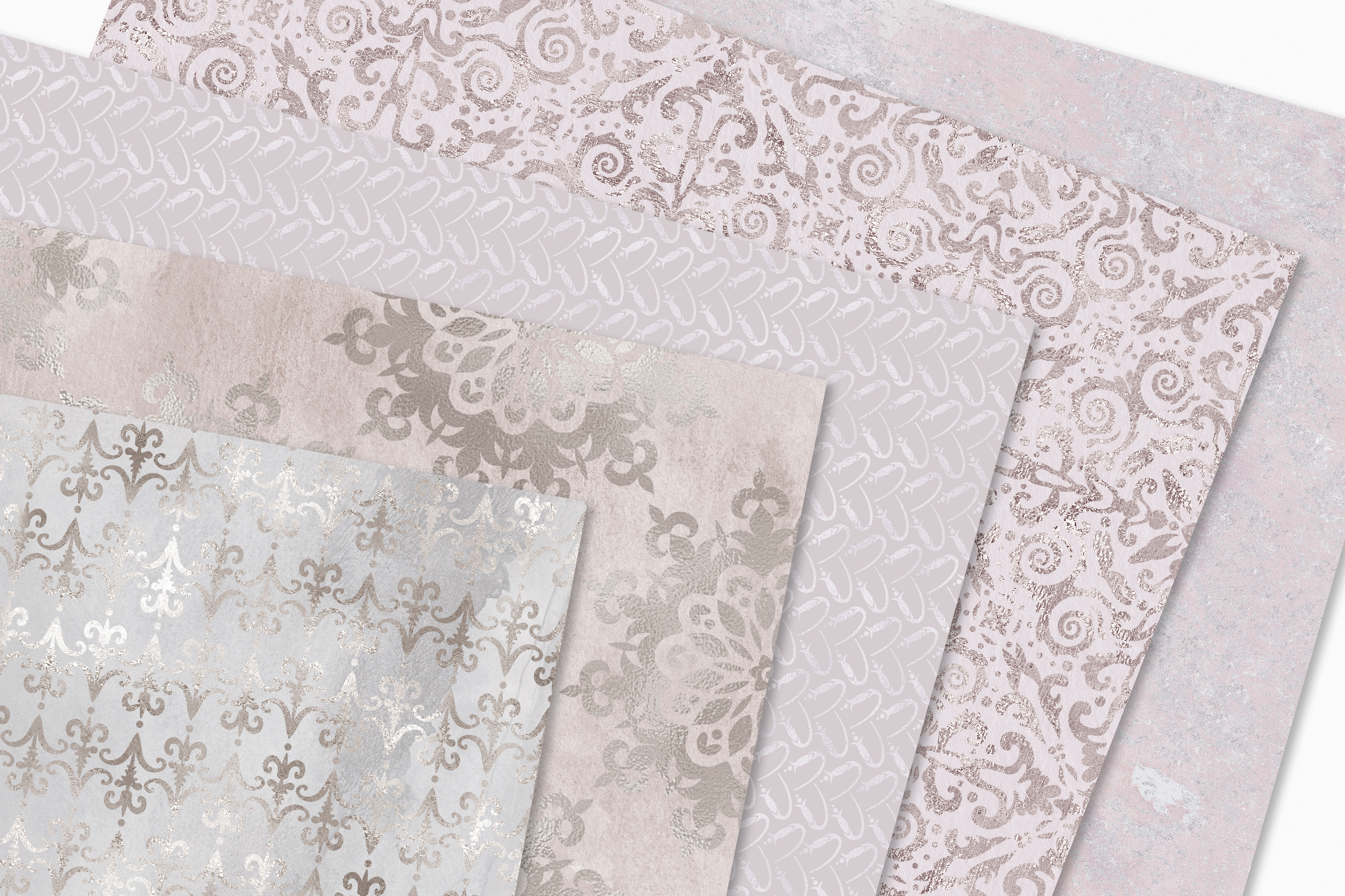 20 Seamless Shabby Chic Digital Papers example image 5
