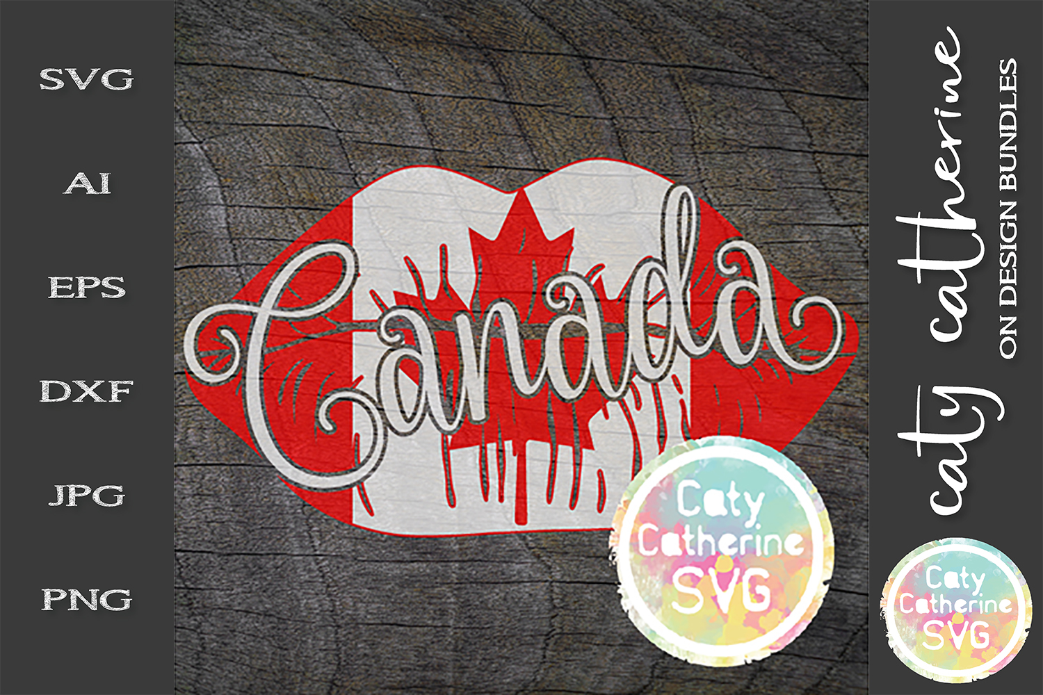 Canada Lips Canadian Flag Canada Day SVG Cut File example image 1