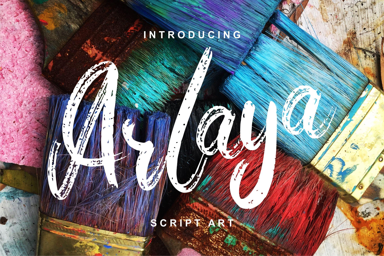 Arlaya | Script Art Font example image 1