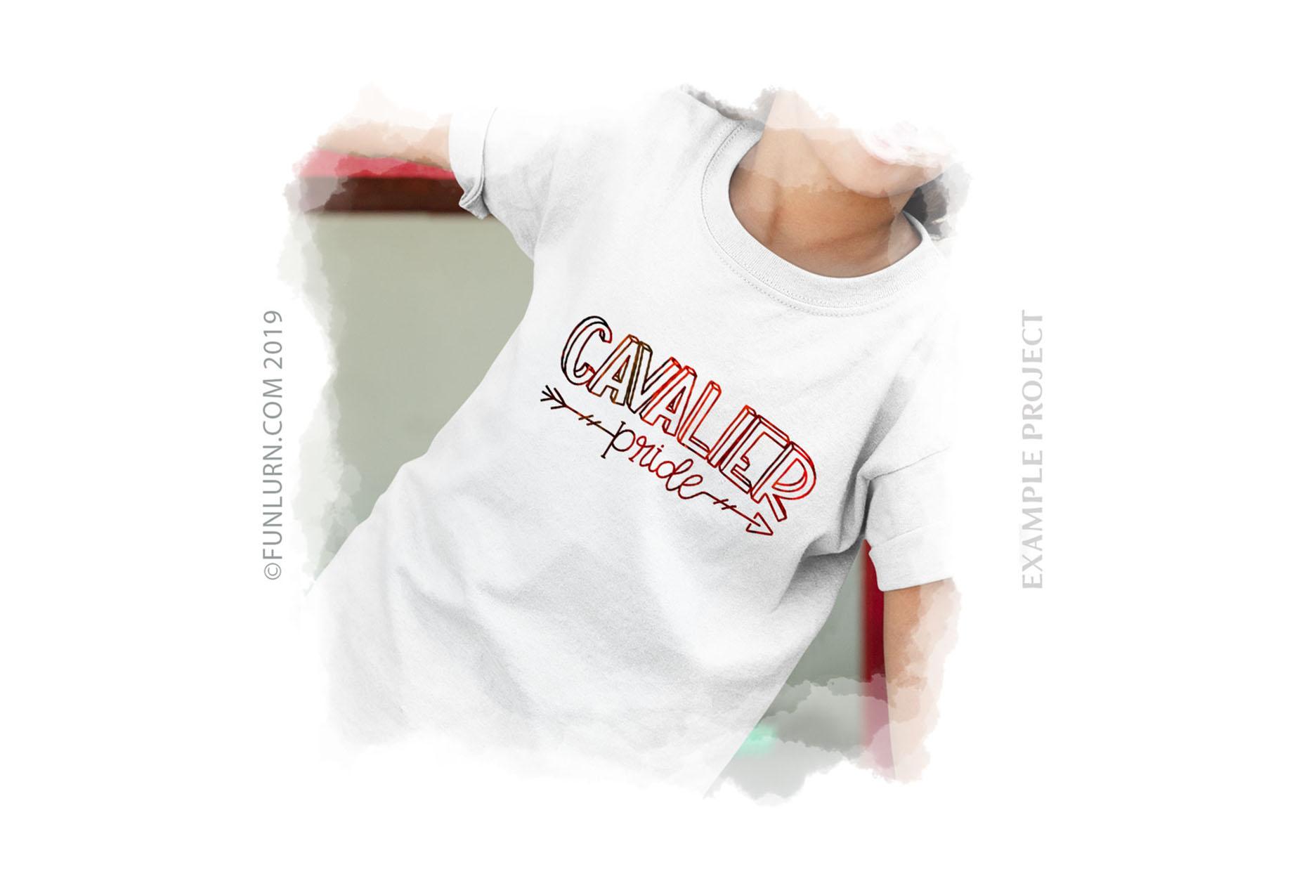 Cavalier Pride Team SVG Cut File example image 3