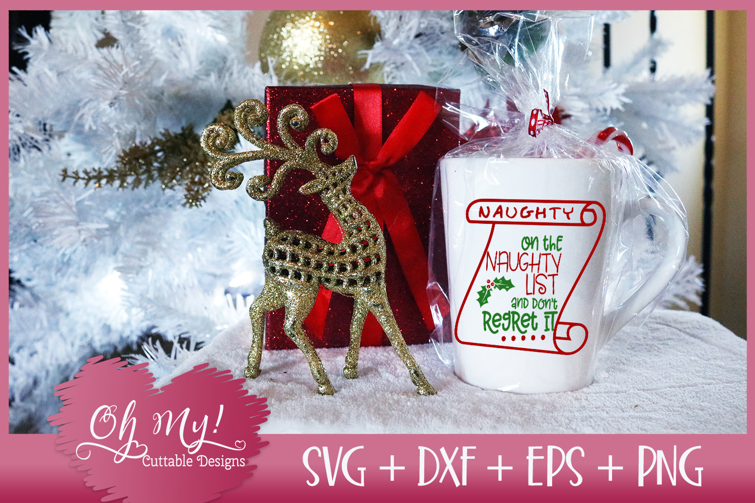 On The Naughty List And Don't Regret It - SVG EPS DXF PNG example image 2