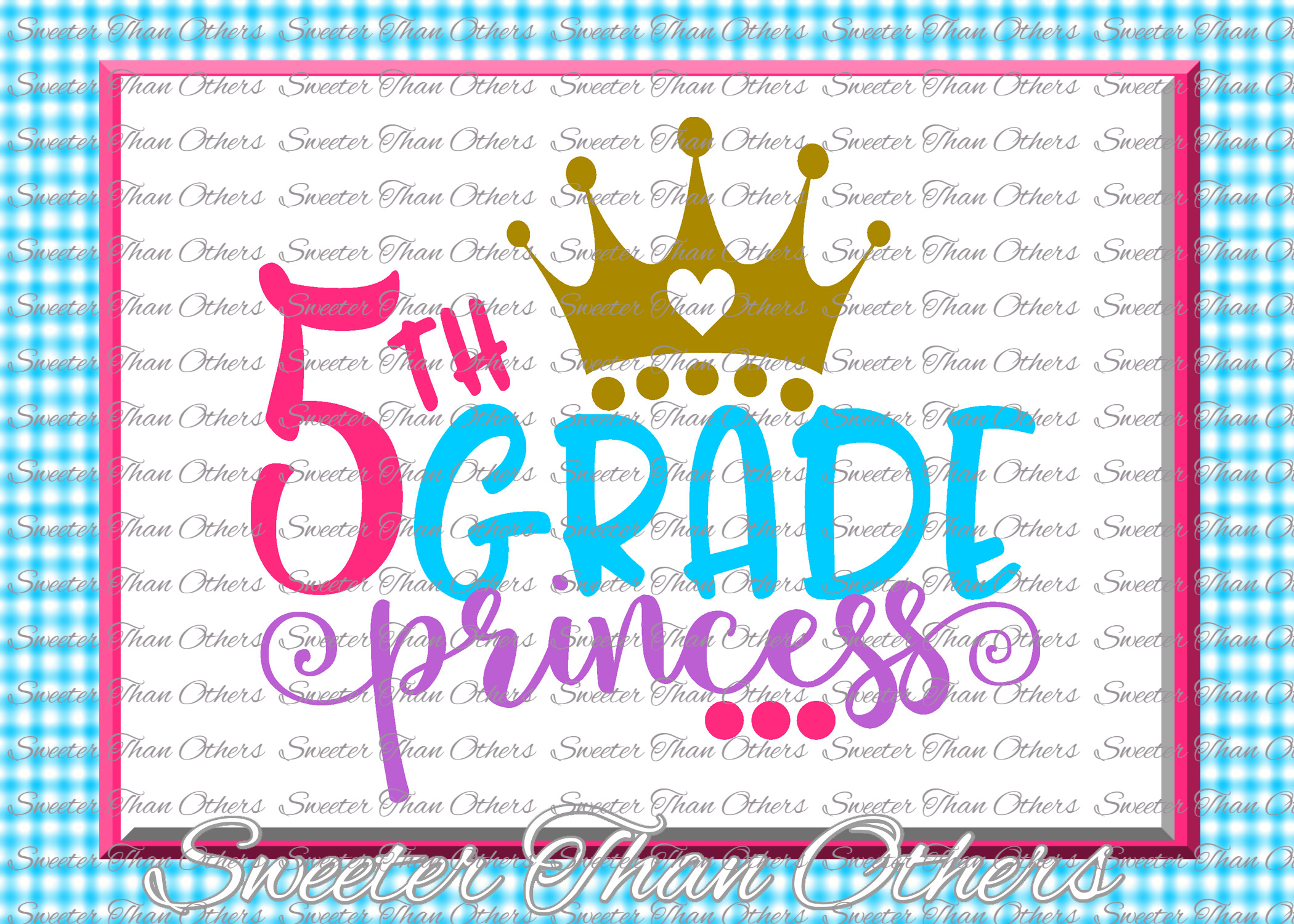 Fifth Grade Princess SVG 5th Grade cut file First Day of Sch example image 1