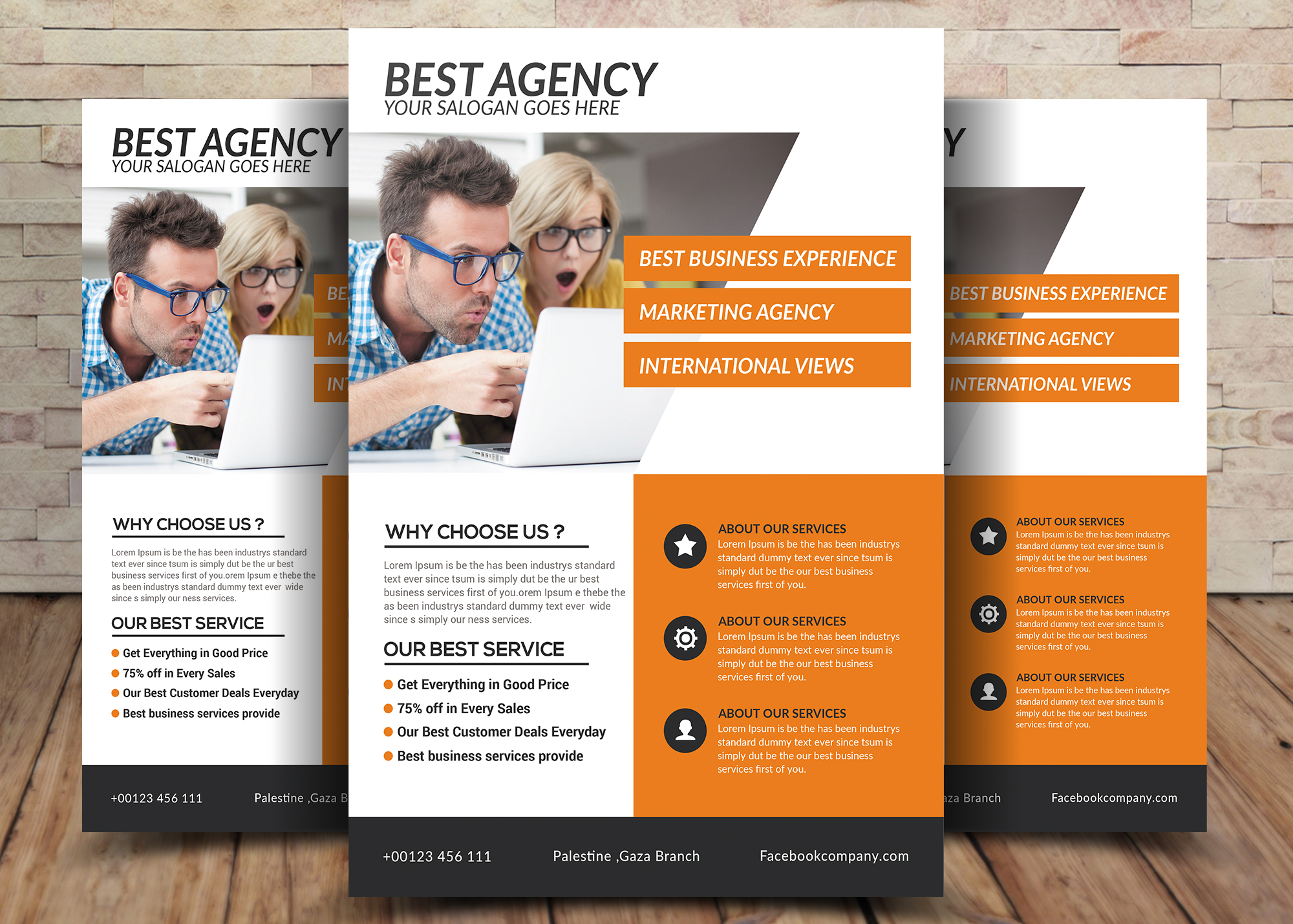 Best Agency Flyer example image 1