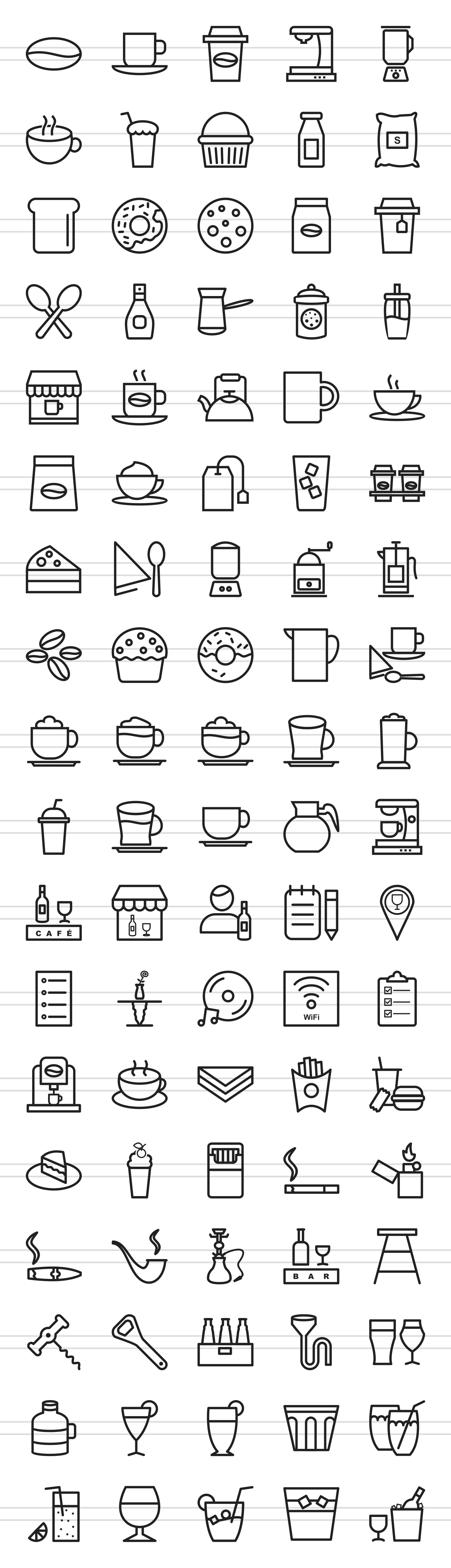 90 Coffee & Cafe Line Icons example image 2