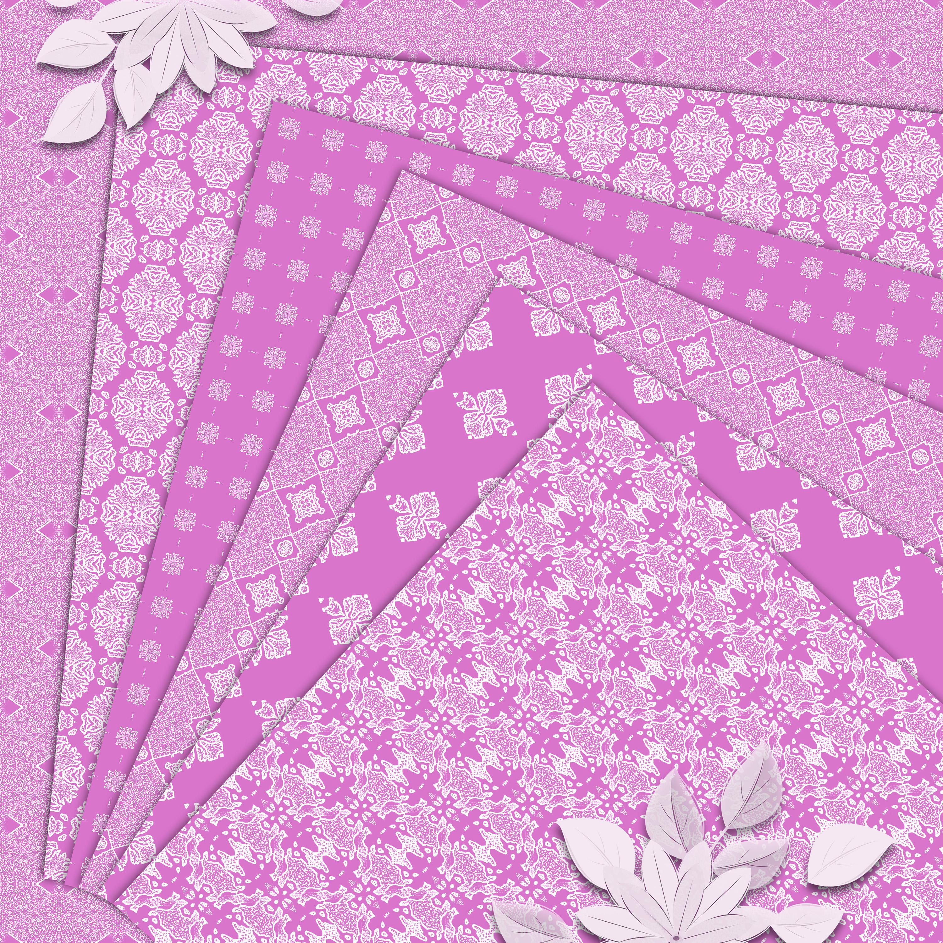 Pink, gentle, abstract and geometrical Scrapbook Paper example image 6