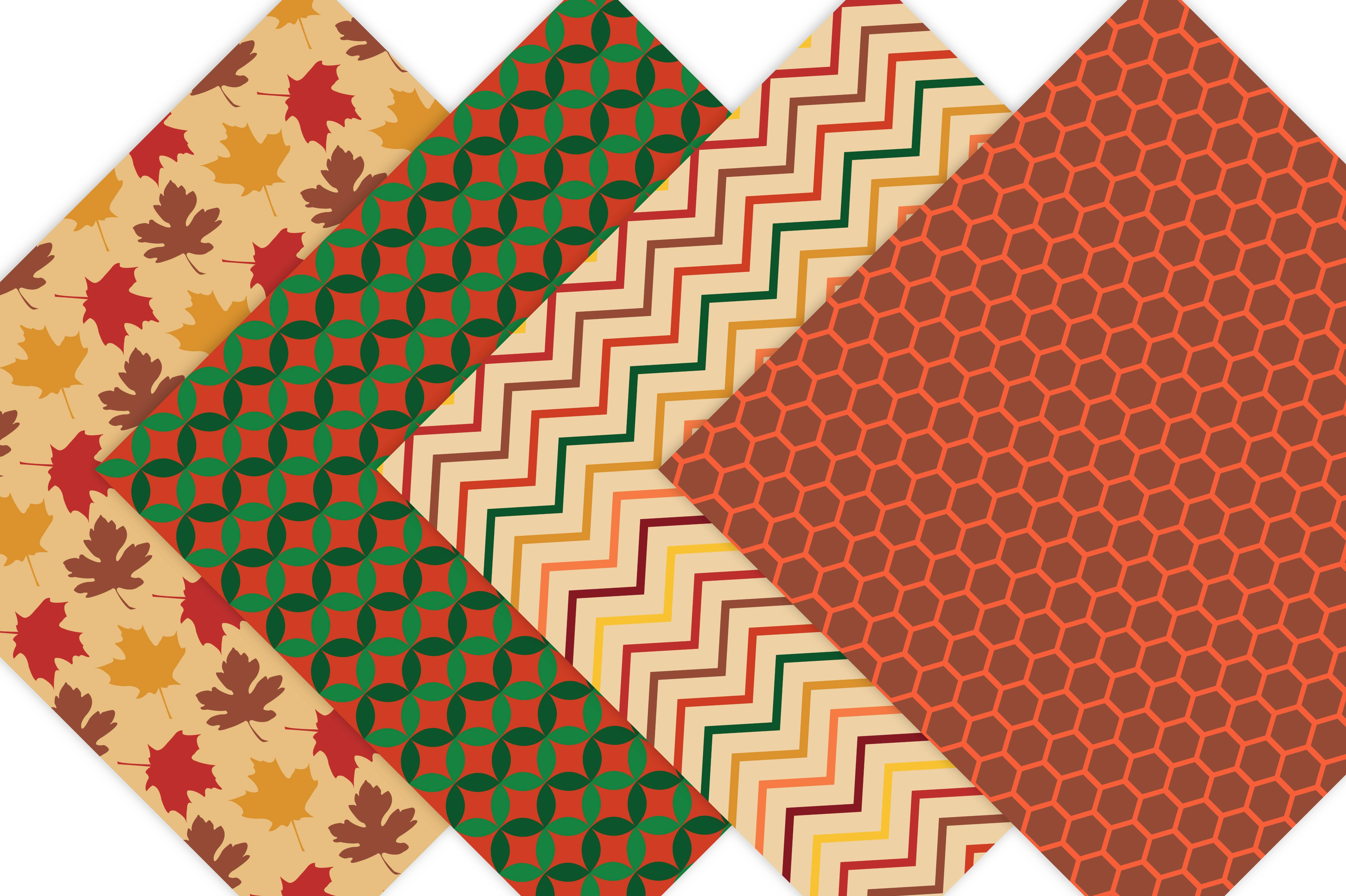 Fall Digital Patterns example image 3