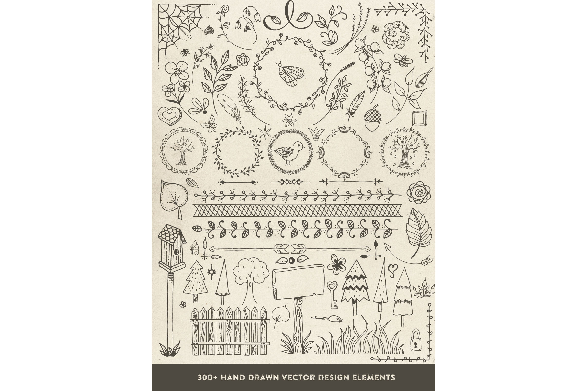 Hand Drawn Vector Design Elements example image 3