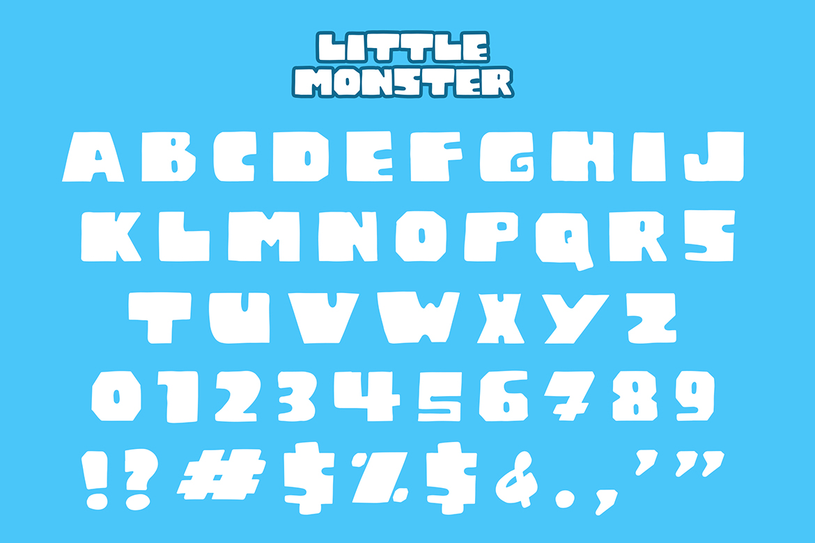 Little Monster Display Font example image 7