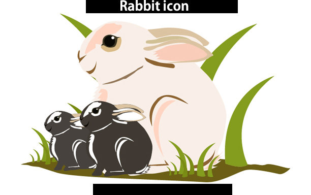 rabbit web icon svg vector /rabbit vector icon, commerical use, SVG / DXf / Png , EPS, vector example image 2