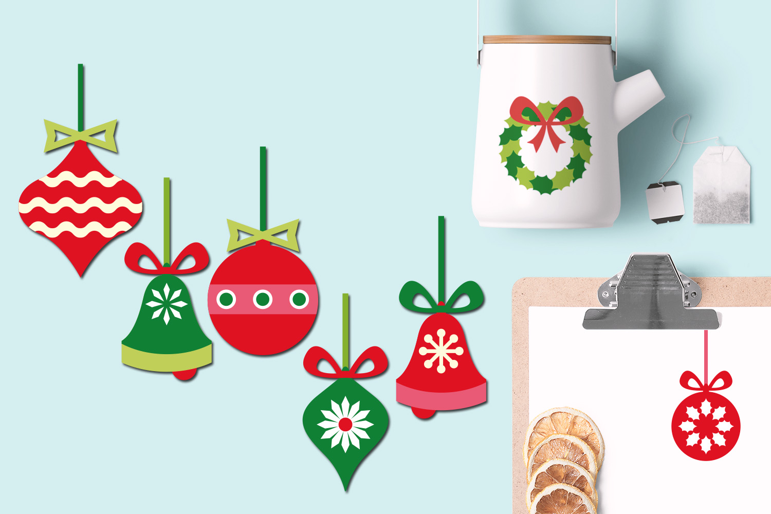 Christmas Hanging Ornaments Illustrations example image 2