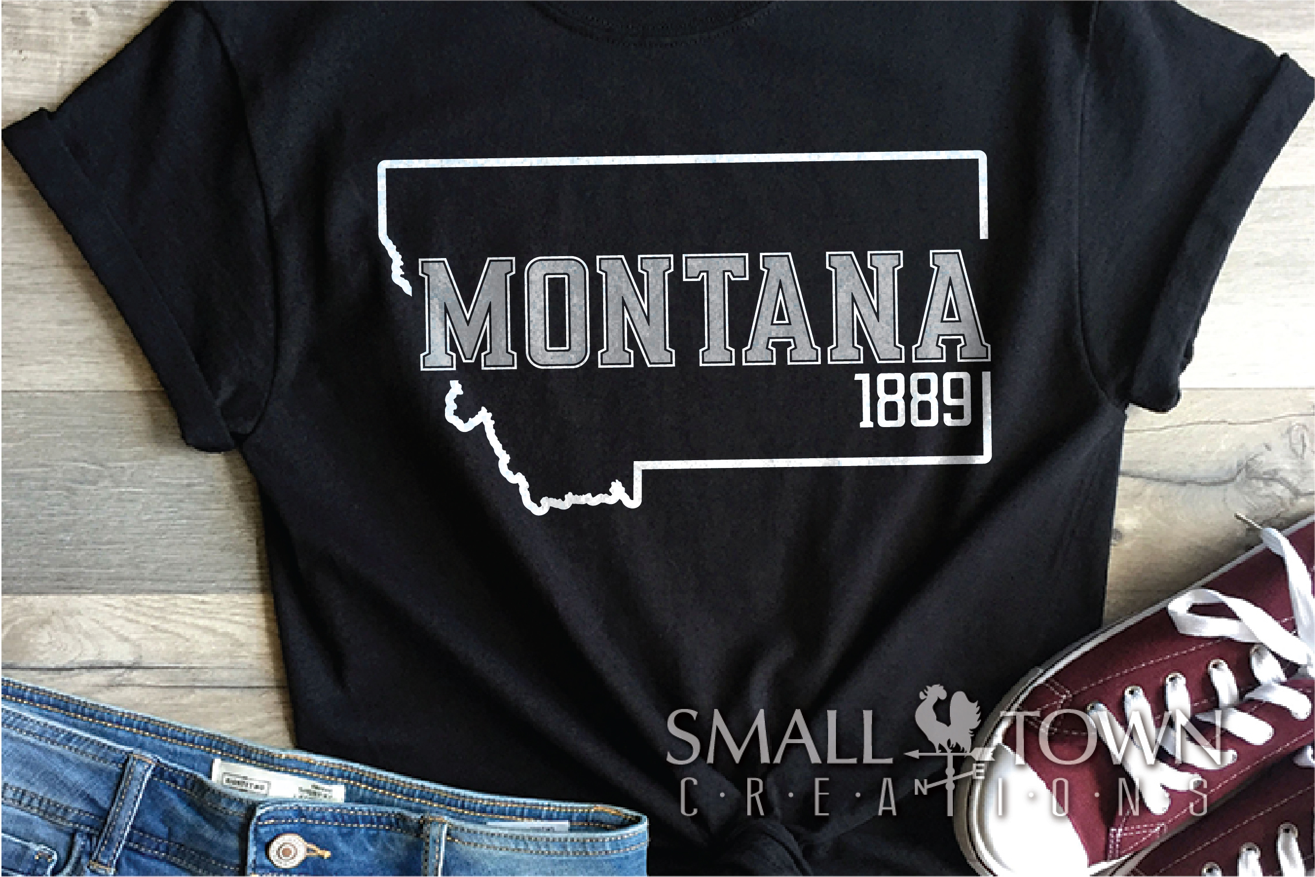 Montana, Big Sky Country - slogan, Logo, PRINT, CUT & DESIGN example image 4