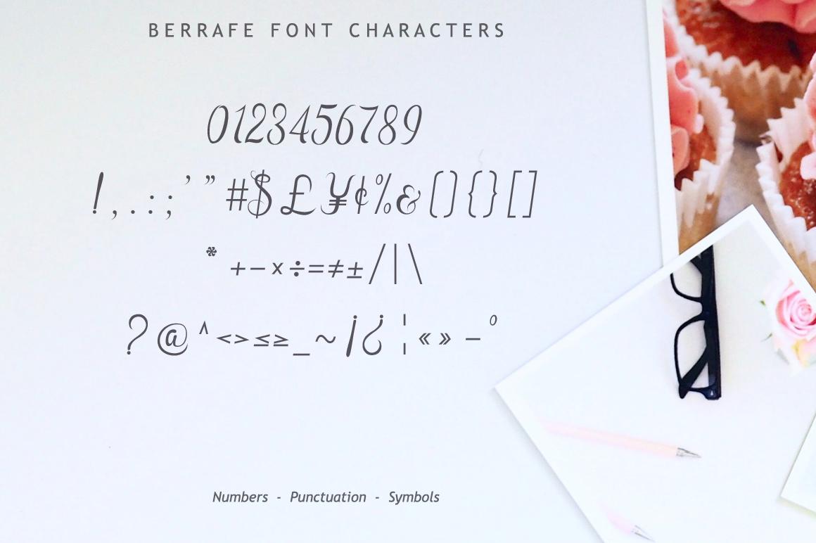 Berrafe Font example image 11