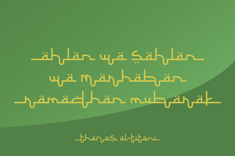 Selamet Lebaran // Arabic Fauxlang Font example image 2
