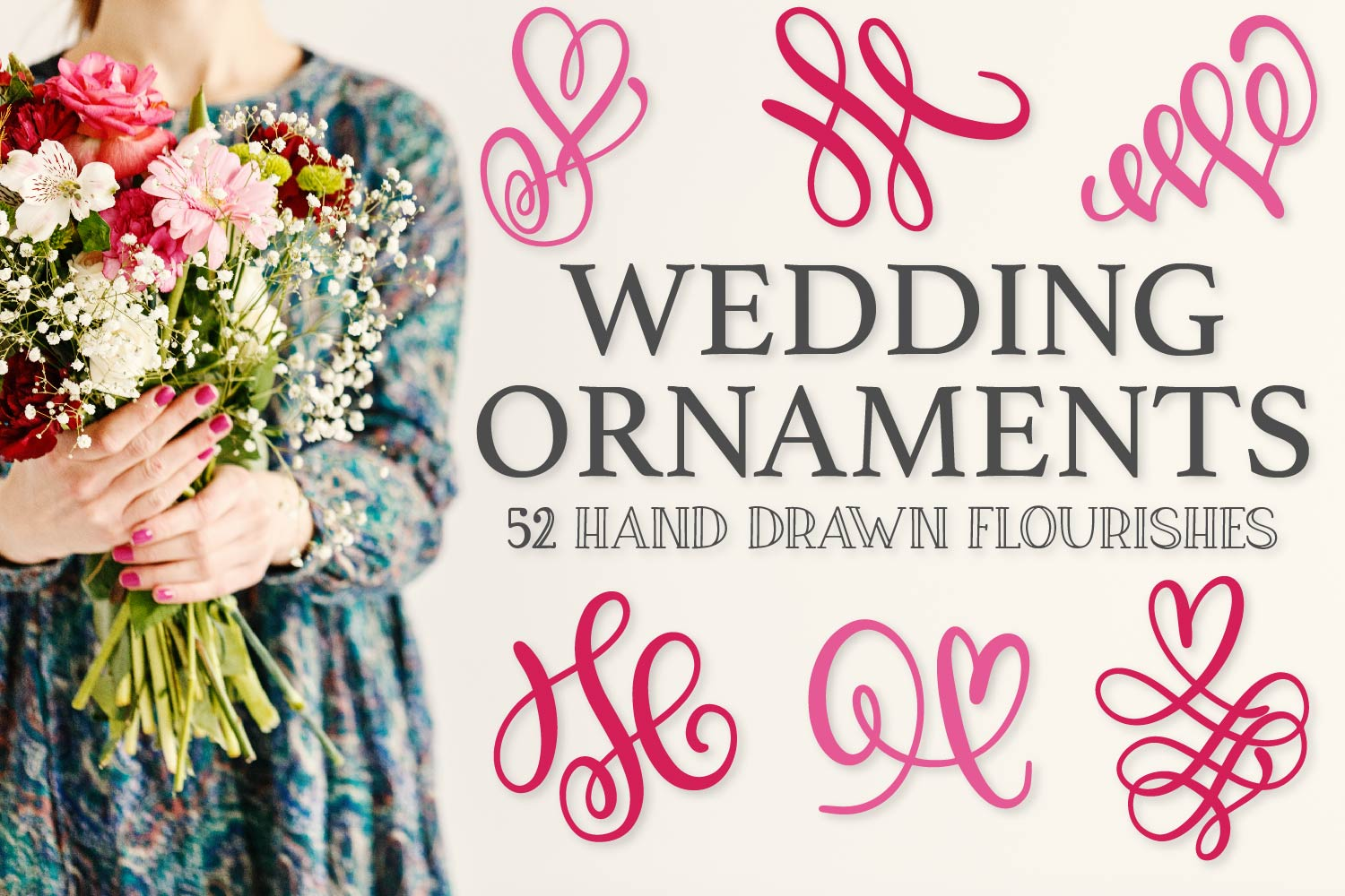 Wedding Ornaments - A Fun Flourish Font example image 1