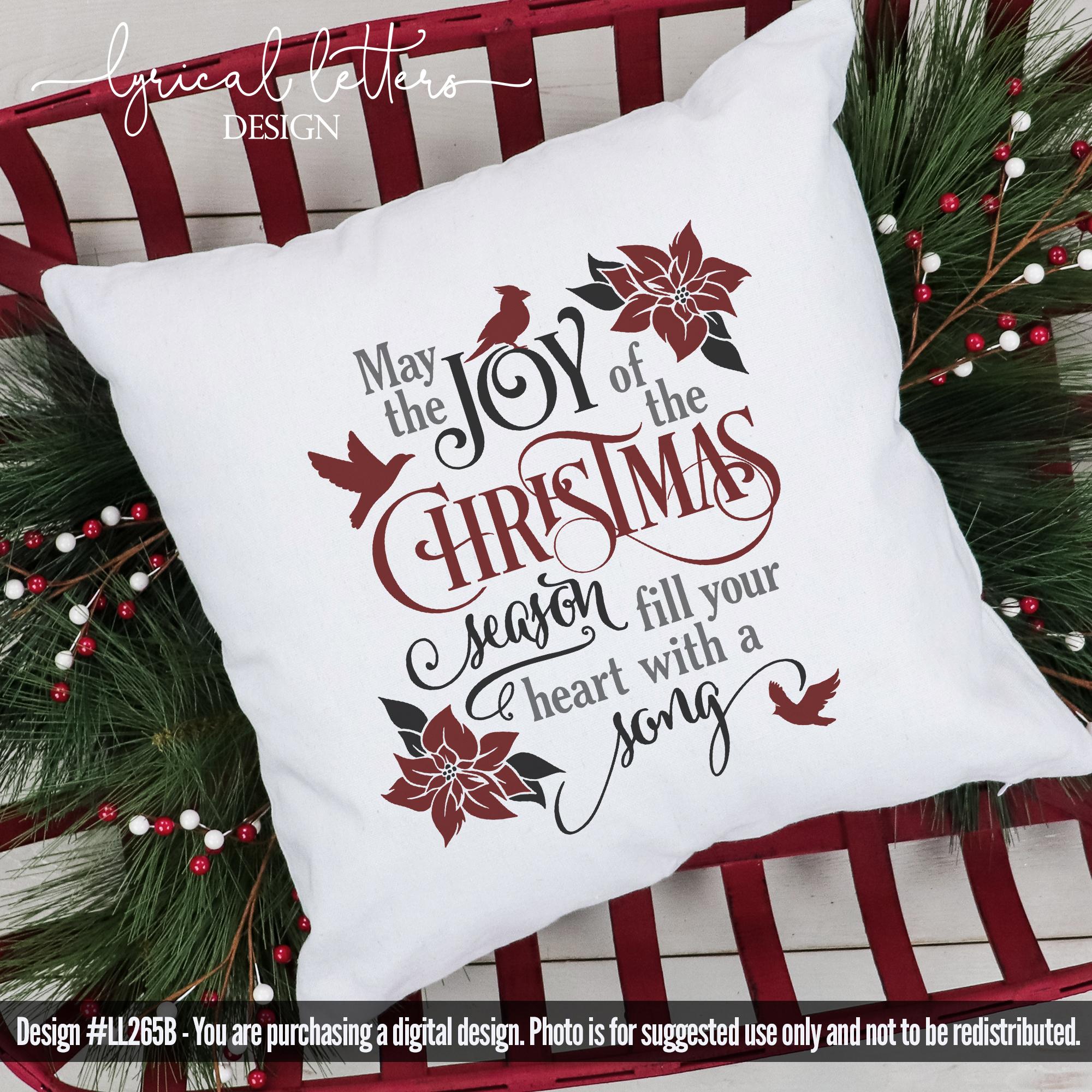 Joy of the Christmas Season with Cardinal SVG LL265B example image 2