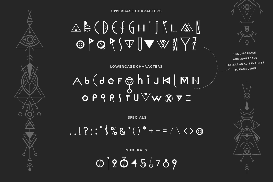 Space Geometry Font + Vector Bonuses example image 4