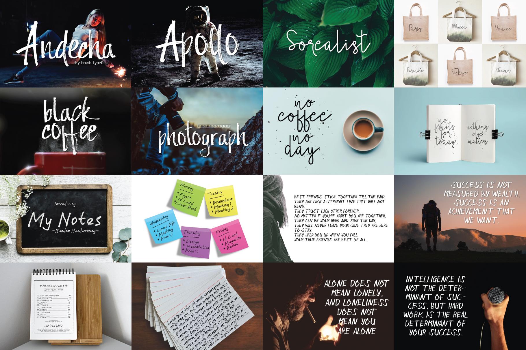03. MINI BUNDLE - 7 mix fonts example image 2