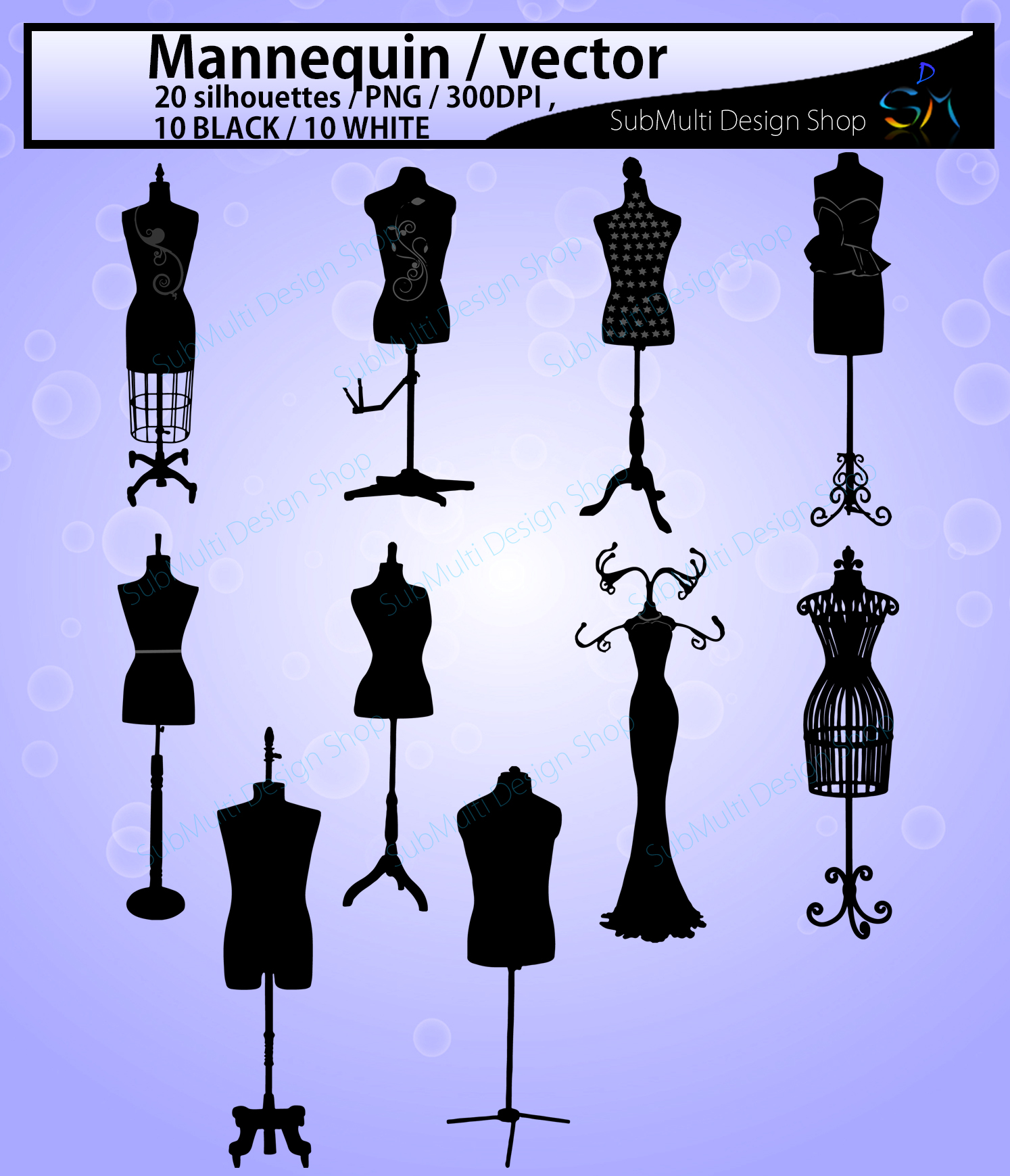 Mannequin svg / mannequin silhouette / EPS / SVG files / mannequin clipart / mannequin craft file / PNG /High Quality / 10B + 10w example image 2