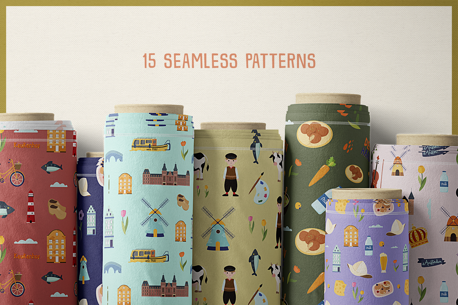Netherlands Vector Clipart and Seamless Pattern example image 6