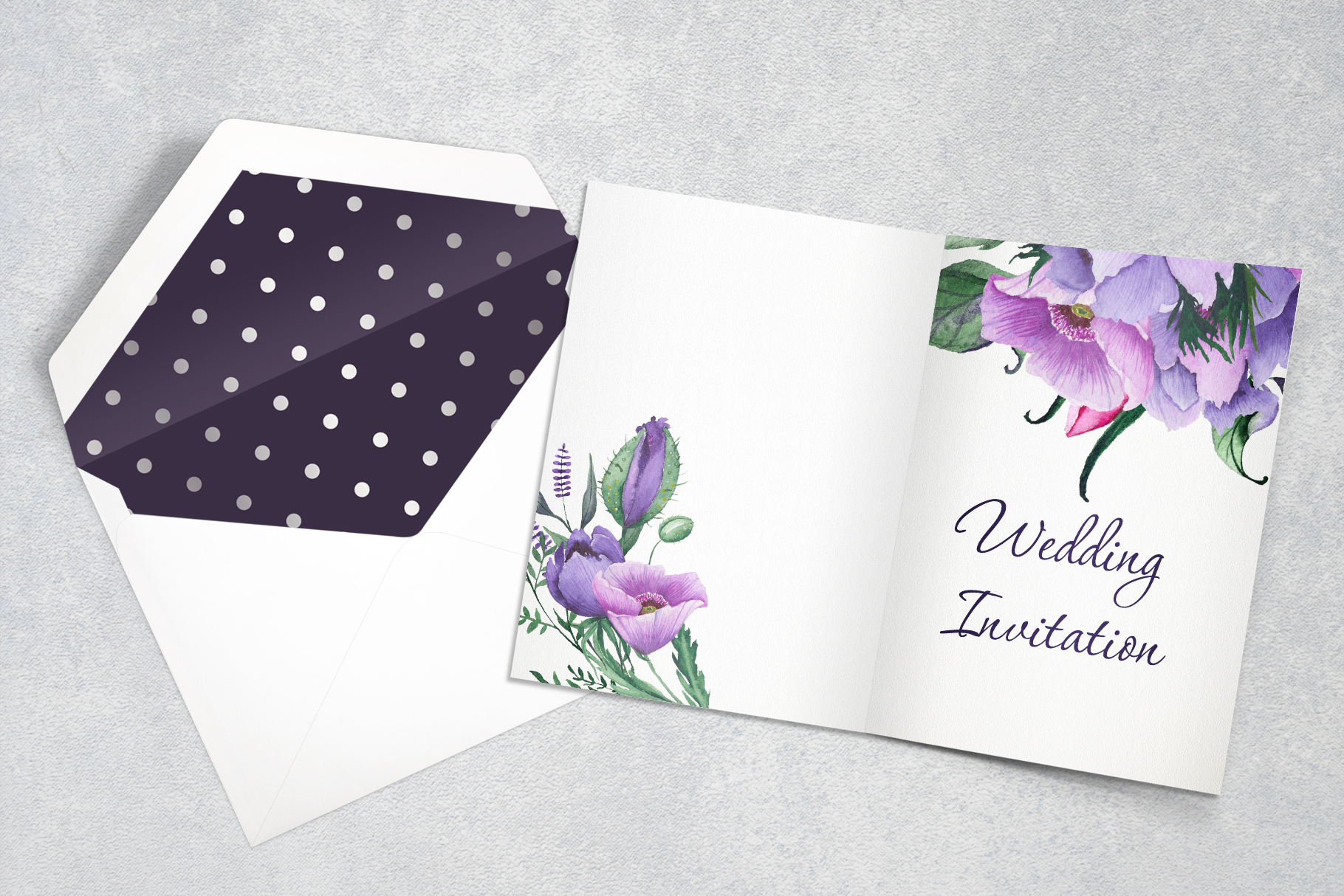 Floral purple green wedding collection example image 4