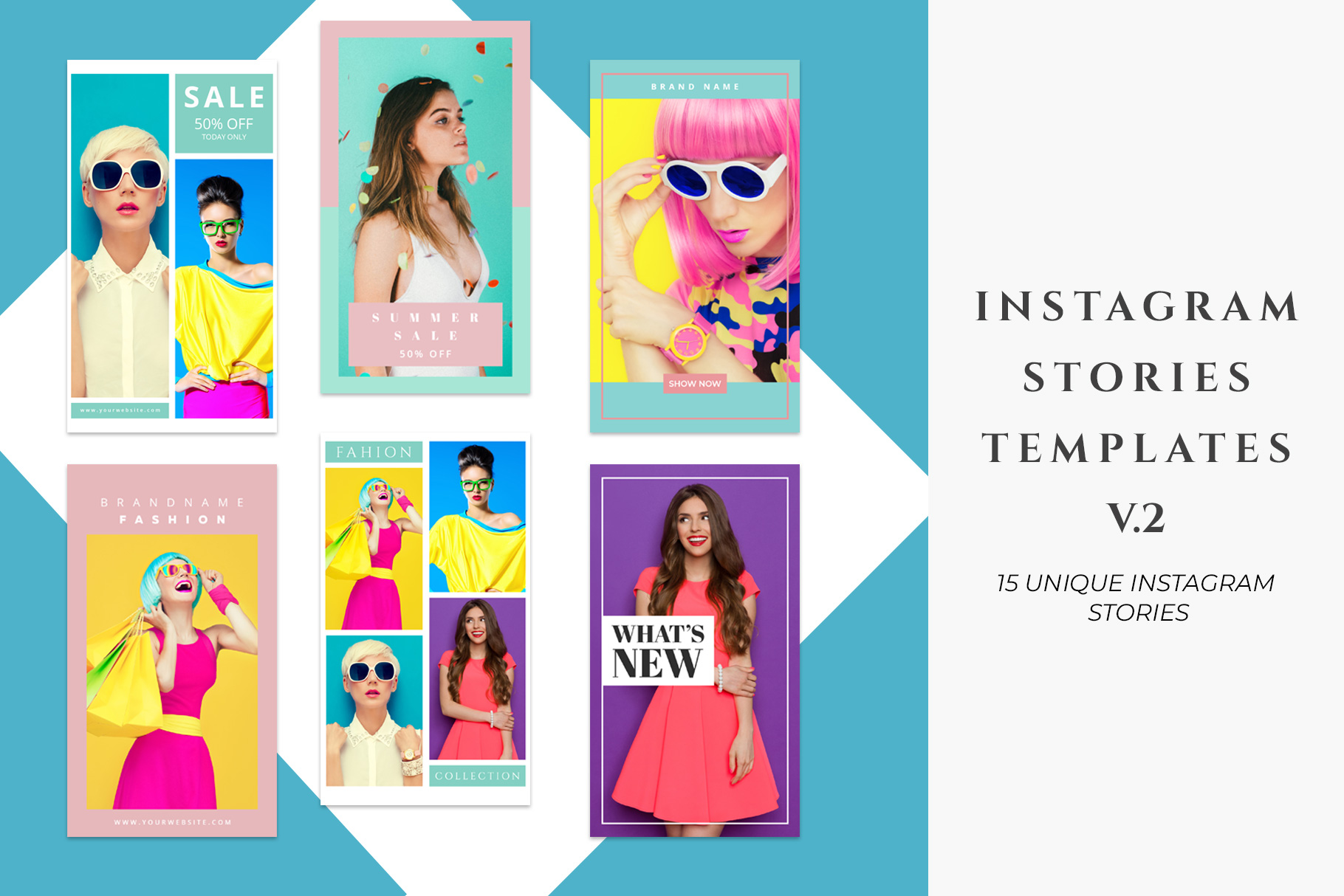 Instagram Stories Templates Pack V.2 example image 1