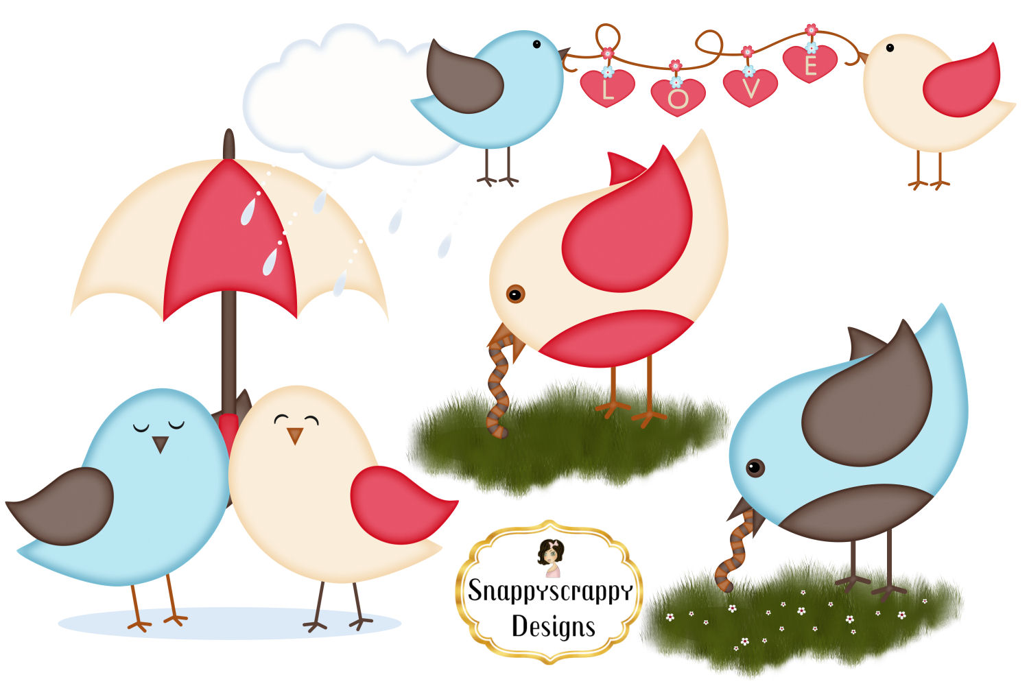 Cute Bird Clipart example image 2