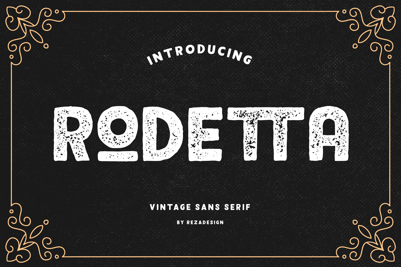 Rodetta - Sans Vintage Font example image 2