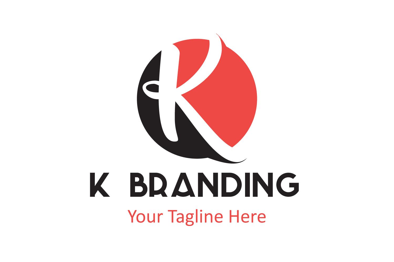 K letter circle logo example image 1