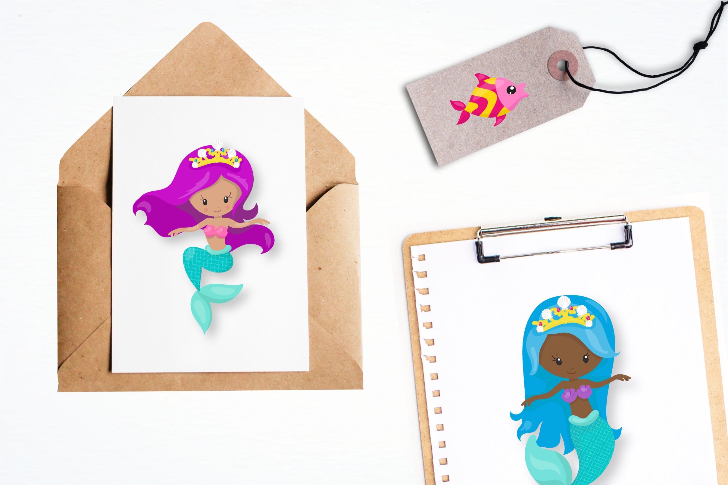 little mermaid graphics and illustrations example image 5
