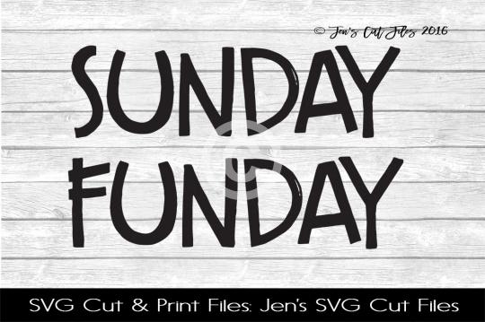 Sunday Funday SVG Cut File example image 1
