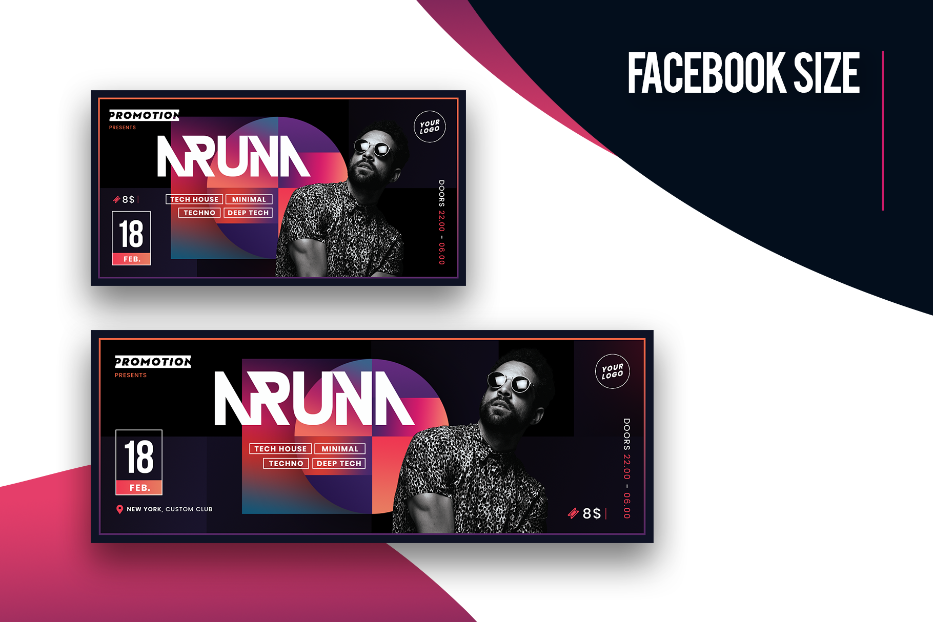 Minimal Party Flyer Template example image 3