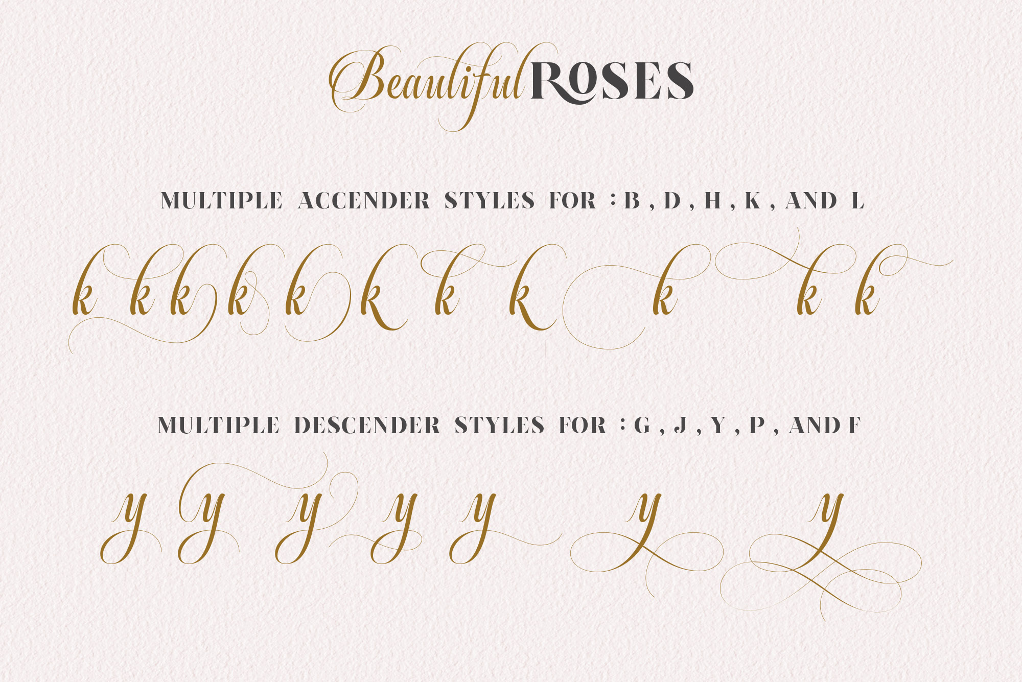 Beautiful Roses Duo Font example image 5