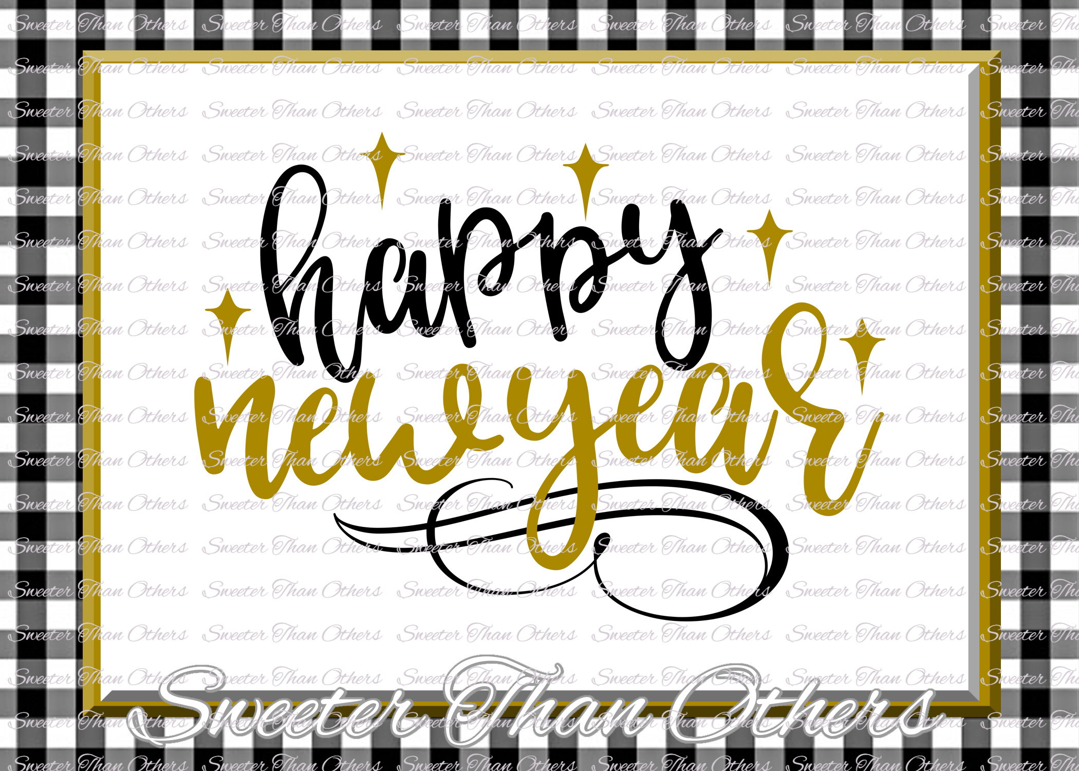 Happy New Year svg, New Year 2018 SVG example image 1