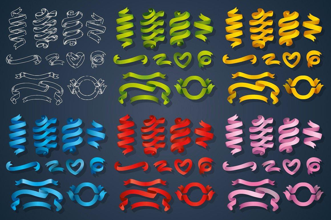 Big Ribbons Set example image 2