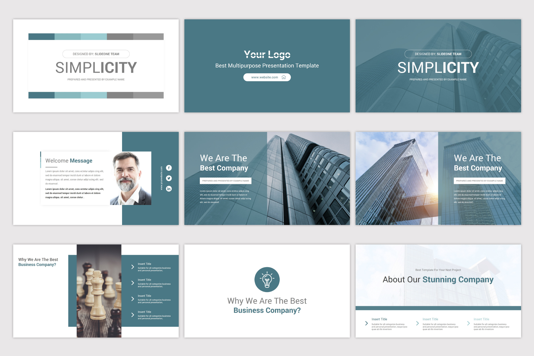 Simplicity Google Slides Template example image 4