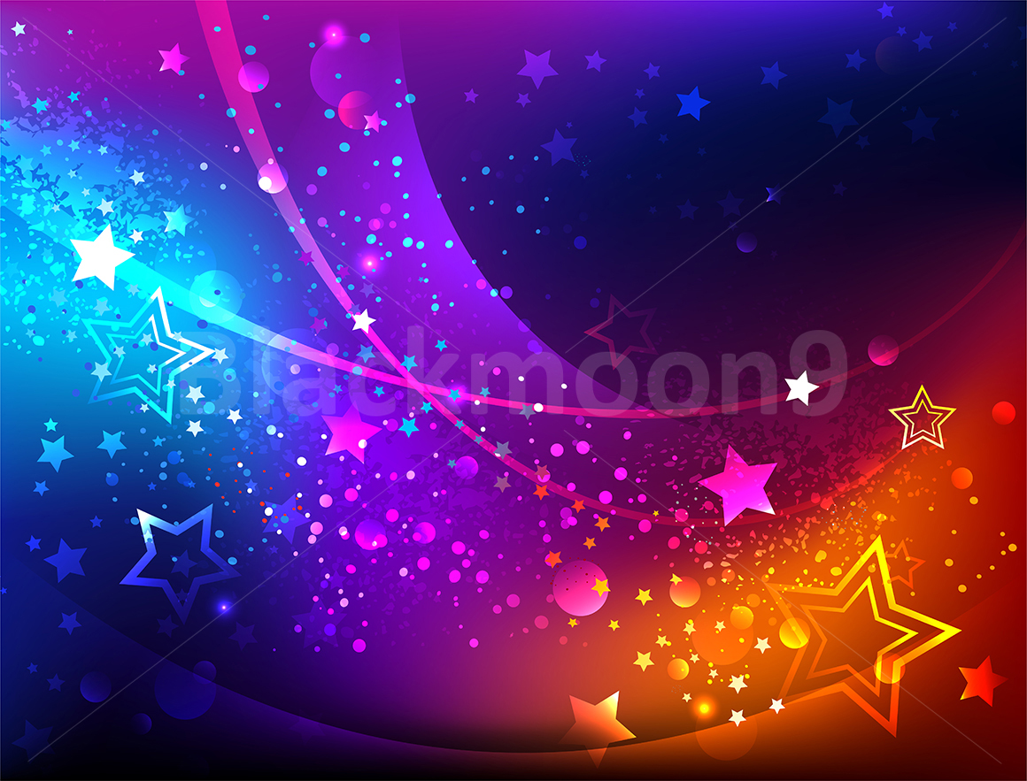 Bright Abstract Background with Stars example image 1