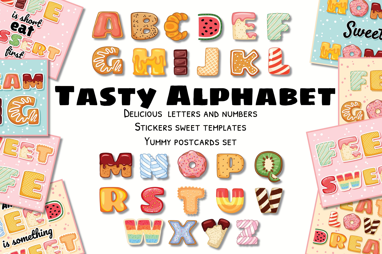 Tasty Alphabet & Yummy Postcards Set example image 1