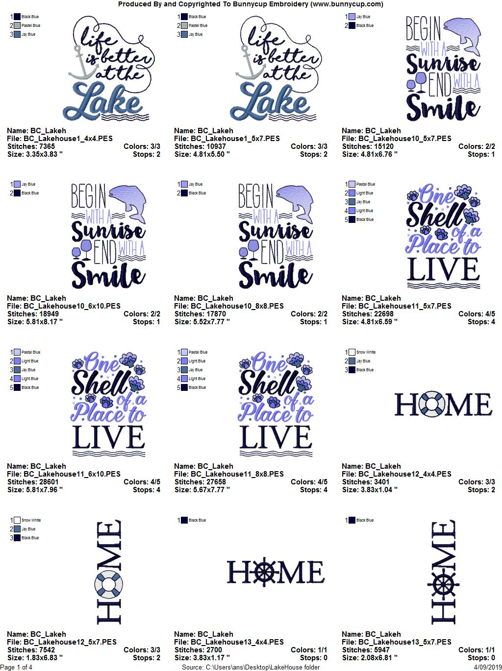 Lake House - 15 Machine Embroidery Designs example image 17