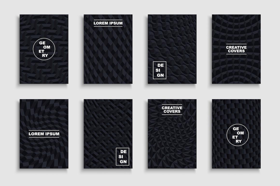 Black creative geometric posters example image 1