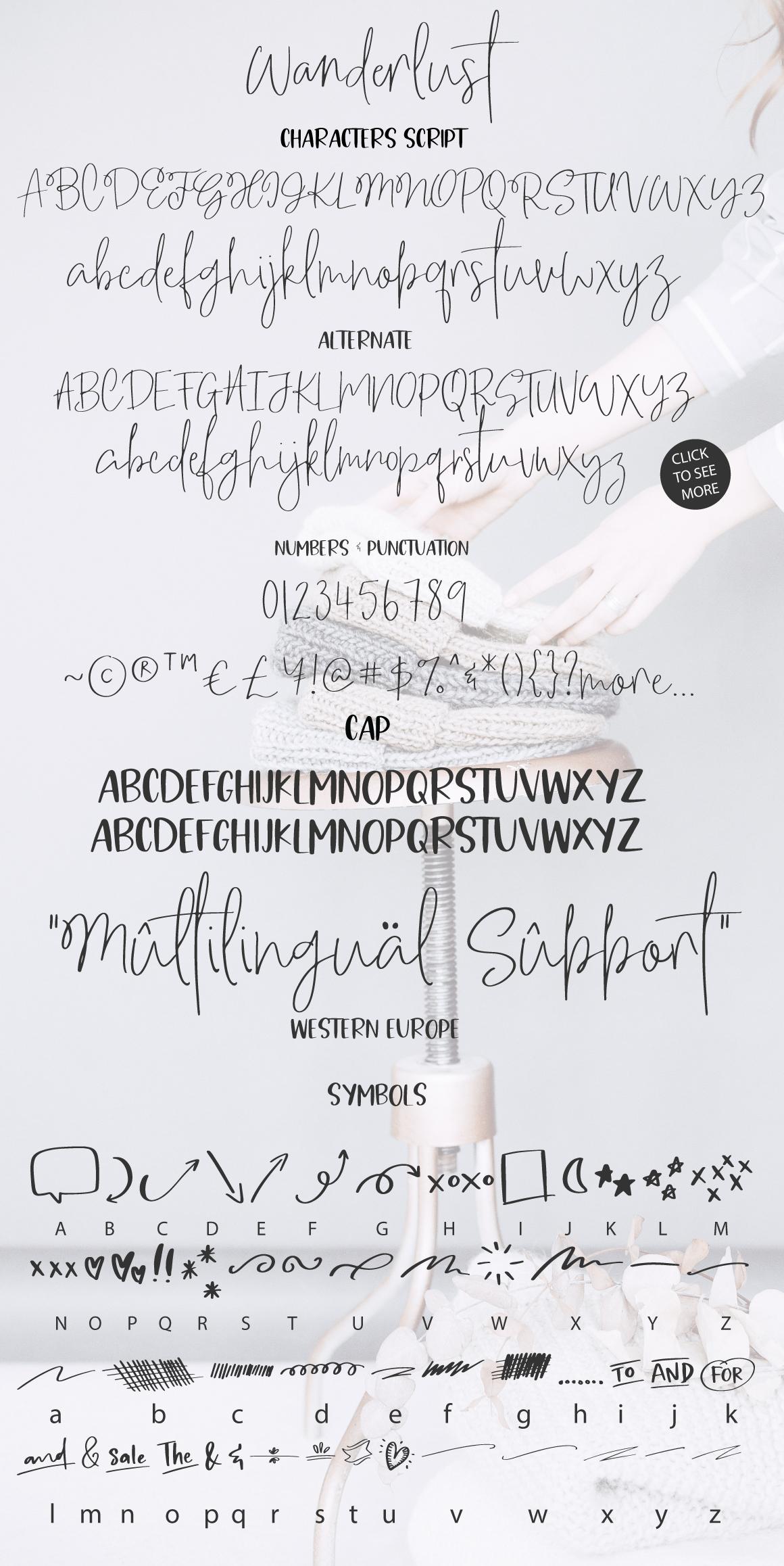 Wanderlust script font example image 12