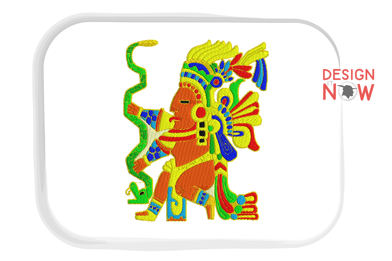 Inca Culture Embroidery Design, Inca Mythology Embroidery example image 6