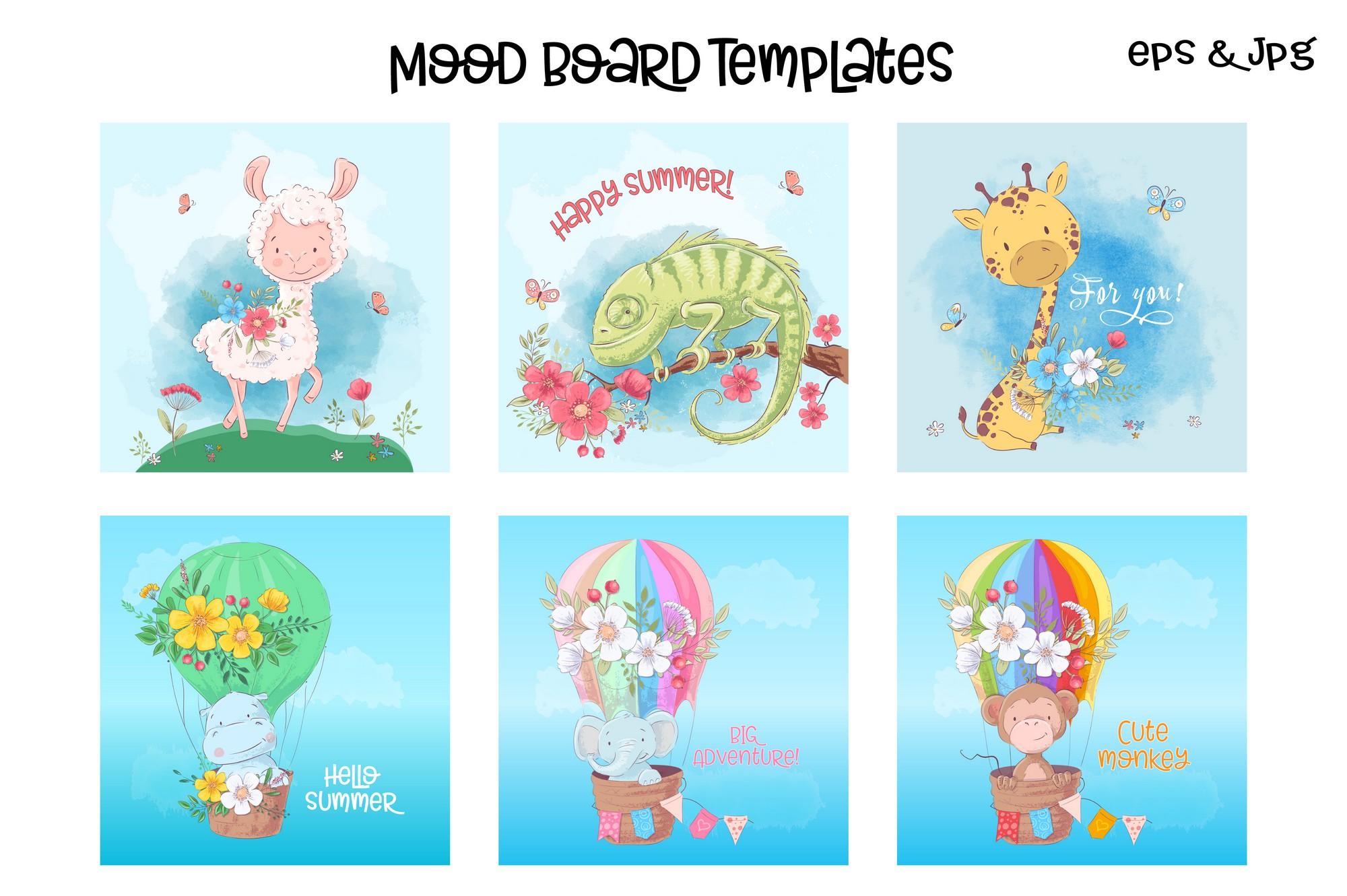 Tropical animals vector clip art example image 4