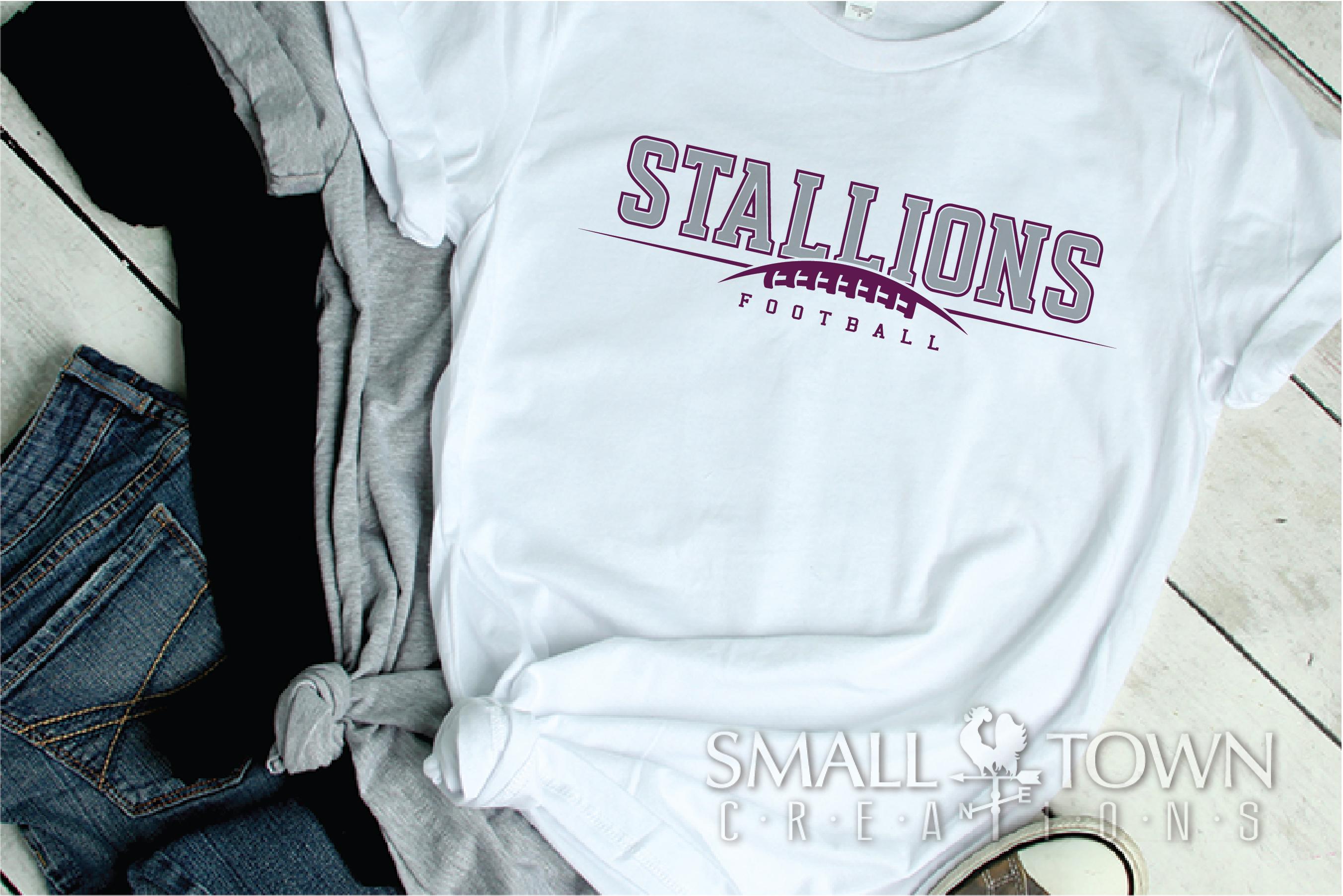 Stallions Football Team, Team, Sport, PRINT, CUT & DESIGN example image 2